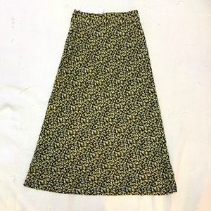 NWT Urban Outfitters Floral Print Midi Skirt XS